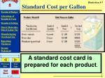 standard cost per gallon