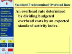 standard predetermined overhead rate