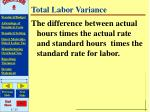 total labor variance