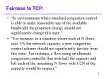 fairness to tcp