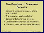 five premises of consumer behavior