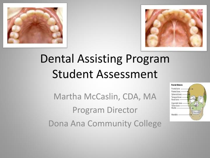 dental assisting program student assessment n.
