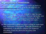 ii displaying commitment
