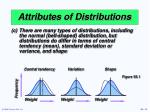 attributes of distributions