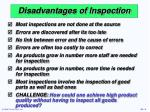 disadvantages of inspection