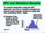 spc and statistical samples