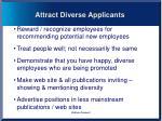 attract diverse applicants