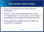 recruitment action steps1