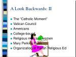 a look backwards ii