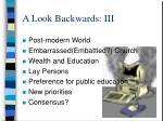 a look backwards iii