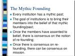 the mythic founding