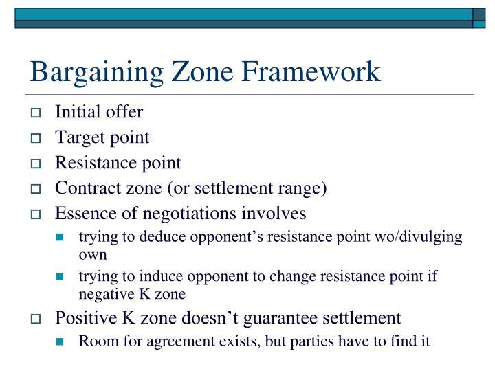 bargaining zone framework n.