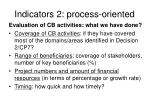 indicators 2 process oriented