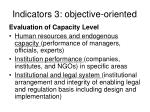 indicators 3 objective oriented