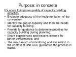 purpose in concrete
