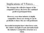 implications of 5 forces