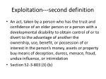 exploitation second definition