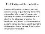 exploitation third definition