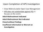 upon completion of aps investigation