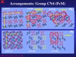 arrangements group cn4 pcm2