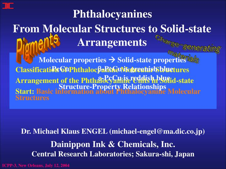 from molecular structures to solid state arrangements n.