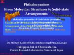 from molecular structures to solid state arrangements