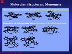 molecular structures monomers