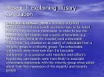 research explaining illusory correlation