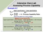 intensive care lab assessing process capability1