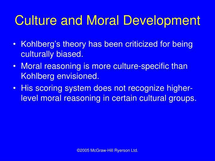 Culture and Moral Development