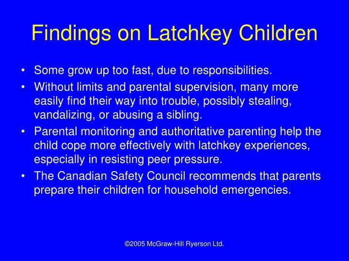 Findings on Latchkey Children