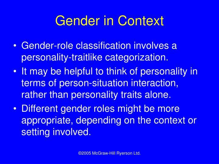 Gender in Context