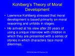 kohlberg s theory of moral development
