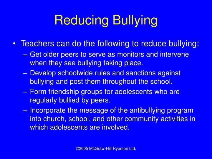 Reducing Bullying