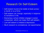 research on self esteem