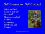 self esteem and self concept
