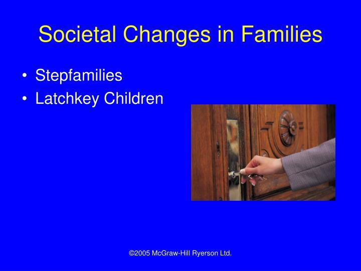 Societal Changes in Families
