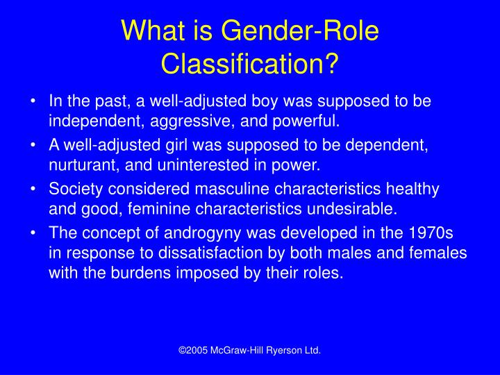 What is Gender-Role Classification?