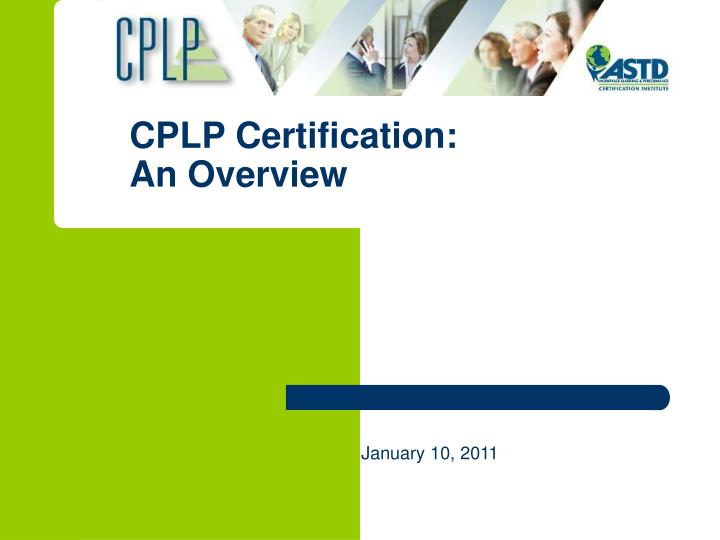 cplp certification an overview n.