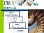 cplp steps