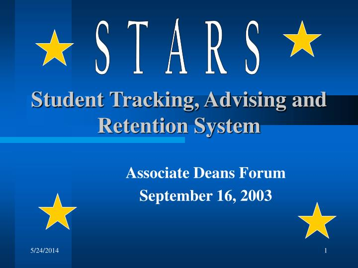 student tracking advising and retention system n.