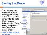saving the movie