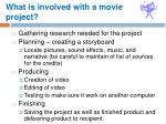 what is involved with a movie project