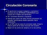 circulaci n coronaria