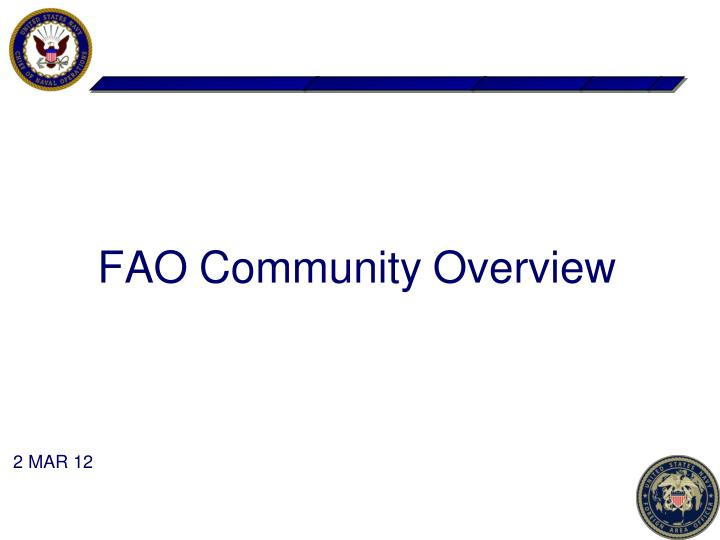 fao community overview n.