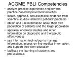 acgme pbli competencies