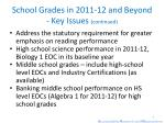 school grades in 2011 12 and beyond key issues continued