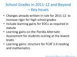 school grades in 2011 12 and beyond key issues