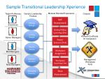 sample transitional leadership xperience