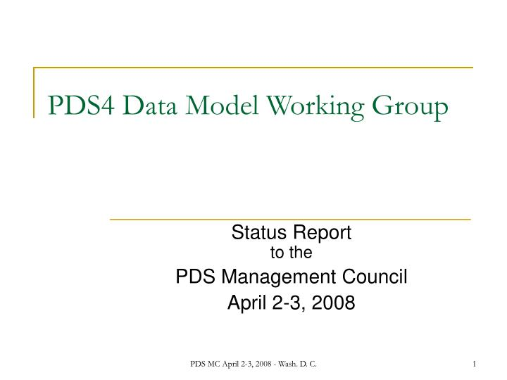 pds4 data model working group n.